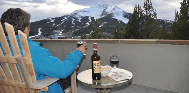 View of Lone Peak Mountain from the terrace